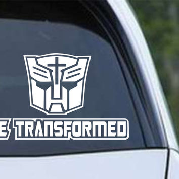 Be Transformed Christian Die Cut Vinyl Decal Sticker