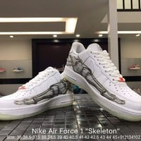 "Nike Air Force 1 ""Skeleton"" men women  sports shoes size 36-45"