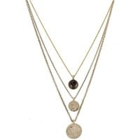 Low Luv by Erin Wasson Coins And Quartz Charms Necklace
