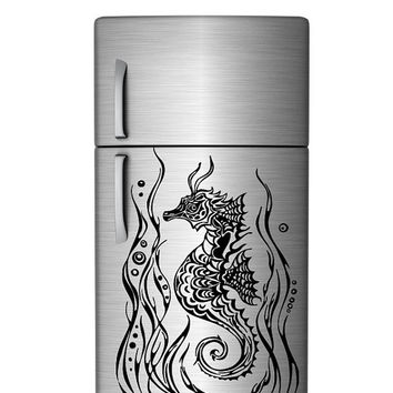 Wall Vinyl Sticker Decals Art Decor Fish Seahorse With Sea Ocean Plants 1314