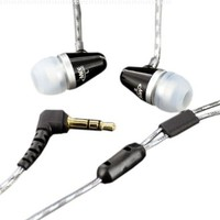 MEElectronics M2-BK Sound-Isolating In-Ear Headphones for iPod, iPhone, MP3/CD/DVD Players-Black (Discontinued by Manufacturer)