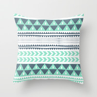 Winter Stripe Throw Pillow by Alice Rebecca Potter