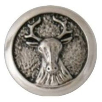 "Snap Charm Moose 20 mm 3/4"" Diameter"