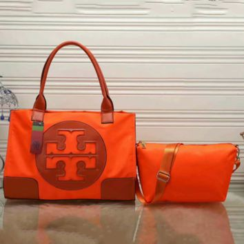 Tory Burch Women Shopping Leather Tote Crossbody Satchel Shoulder Bag Two Piece G-LLBPFSH