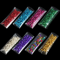 Colorful 100Pcs/lot Iron Loose Beads Small Jingle Bells Christmas Decoration Pendants  DIY Crafts Handmade Accessories