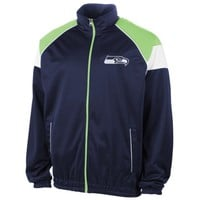 Seattle Seahawks I Formation Track Jacket – Navy Blue