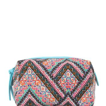 With Love From CA Patterned Make Up Bag - Womens Scarves
