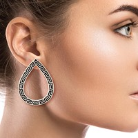 Versace Style Teardrop Earrings