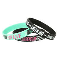 Green Day Oh Love Rubber Bracelet 3 Pack