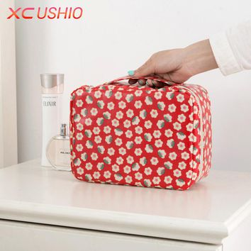 Creative New Waterproof Handy Travel Cosmetic Bag Cartoon Bathroom Toiletry Bag Women Makeup Organizer Cosmetic Container