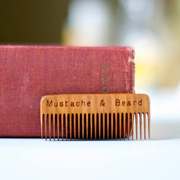 Wood Mustache & Beard Comb