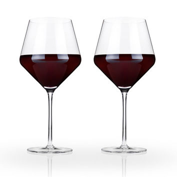 Crystal Burgundy Wine Glass Set