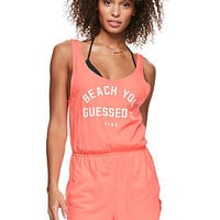 Scoop Back Romper - PINK - Victoria's Secret