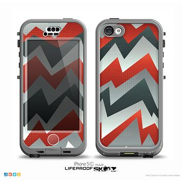 The Abstract ZigZag Pattern v4 Skin for the iPhone 5c nüüd LifeProof Case