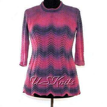 Hand knitted cotton tunic
