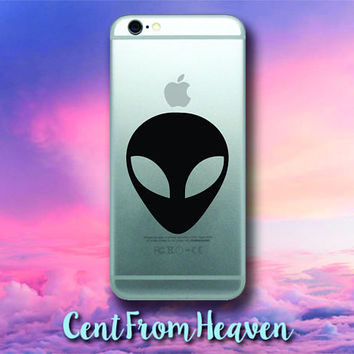 2 EXTRAS FREE - Alien iPhone Samsung Galaxy Phone Apple Decal Sticker UFO Outer Space Cute