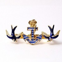 Vintage Swallow&Mooring Lighter Double Finger Ring at gofavor