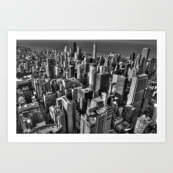 Chicago Art Print by Claude Gariepy
