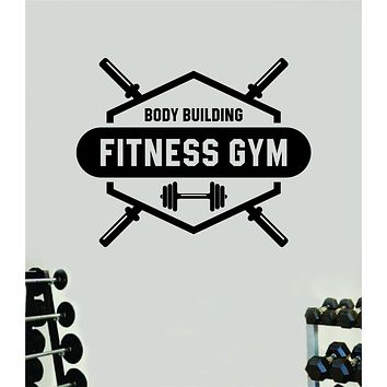 Body Building Fitness Gym V2 Wall Decal Home Decor Bedroom Room Vinyl Sticker Art Teen Work Out Quote Beast Lift Strong Inspirational Motivational Health School