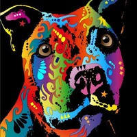 Staffordshire Bull Terrier Canavs art Print