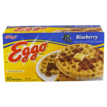Kellogg's Eggo Blueberry Waffles, 10 Count, 12.3 OZ