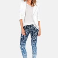 Make the Fade Ombre Ikat Print Skinny Jeans