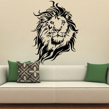 Lion's Head, King of the Jungle, Animal, Vinyl Decal Wall Sticker Furniture Glass Removable Art Decal Decor DIY Mural ! Free shipping!