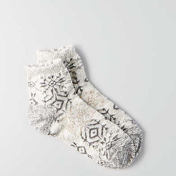 AEO Patterned Ankle Socks, Light Heather