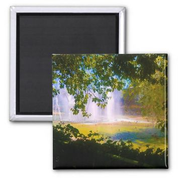 megical waterfall 2 inch square magnet