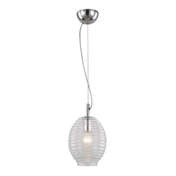Trans Globe Lighting PND-962 CL Polished Chrome and Clear One-Light Adjustable Drop Pendant