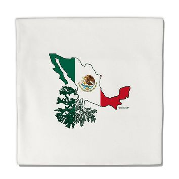 "Mexican Roots - Mexico Outline Mexican Flag Micro Fleece 14""x14"" Pillow Sham by TooLoud"