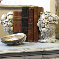Flower Basket Bookends