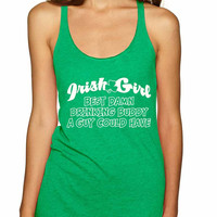 Irish girl best Drinking buddy women tank top st patricks