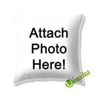 Attach Photo Here! Square Pillow Cover