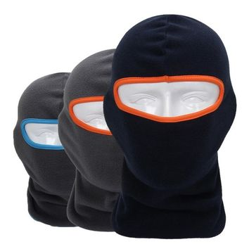 Winter Breathable Warm Fleece Thermal Windproof Balaclava Paintball Game Combat Sun Neck Full Face Mask Cap Helmets Hat