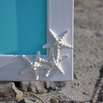 Chalkboard 11 x 14-Tiffany Blue Starfish-Beach Weddings, Menu Chalkboards, Starfish Home Decor, Coastal Living, Shabby Chic Seashore