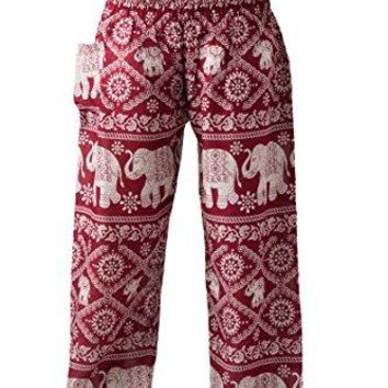 Bangkokpants Womens Harem Pants Bohemian Clothes Boho Yoga Hippie Pants Smocked Waist