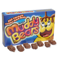 Muddy Bears Chocolate Covered Gummi Bears Theater Size Packs: 12-Piece