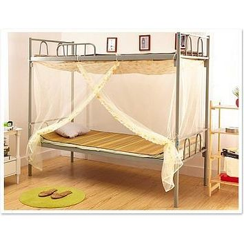 Hot Mosquito net Canopy Curtains Coustiquaire for School Double Bed single door Lace Elegant