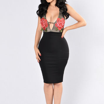 Come With Me Dress - Black