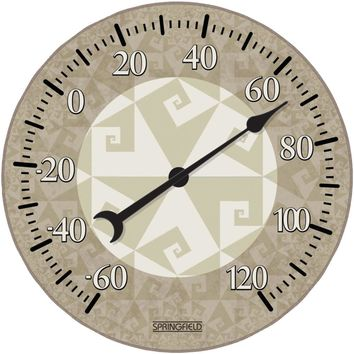 "Springfield Precision 10"" Tempered Glass Dial Thermometer (fractal)"