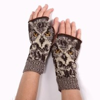 Realistic Owl Handwarmers - Matching Hat & Scarf Available