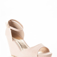 Open Toe Ankle Strap Wedge