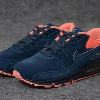 NAM9004 - Nike Air Max 90 (Suede Denim/Bright Orange)