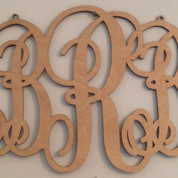 Wooden Monogram with 3 Letters