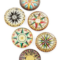 ModCloth Nautical What May Compass Magnet Set