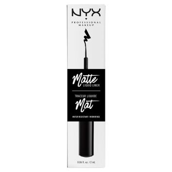 NYX Professional Makeup Matte Liquid Liner Black - 0.06oz