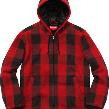 Supreme Hooded Wool Bomber