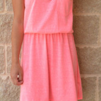 Everyday Casual Pocket Dress · Haute Pink