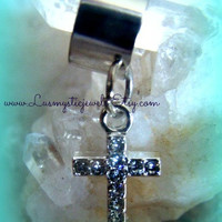 Rhinestone Cross Ear Cuff, Cross, Direct Checkout, Religious Jewelry